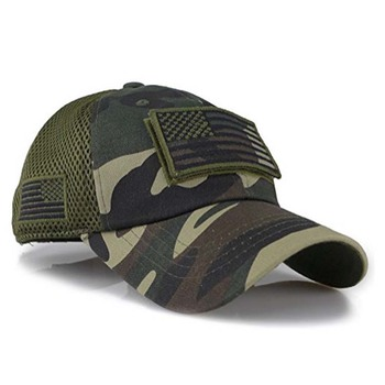 Camouflage Constructed Trucker Special Tactical Operator Forces USA Flag  Patch Baseball Cap ce7ea361f2f