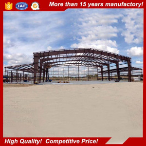 Portal frame galvanized H steel beam steel structure hangar for airport shed