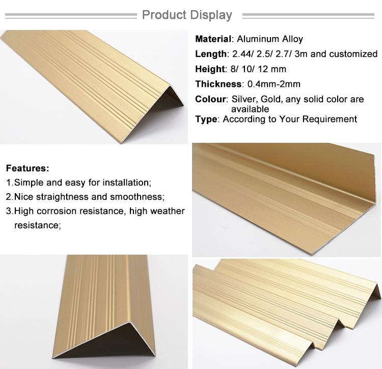 Metal Accessories Aluminium Corner Protector Stair Corner Protection