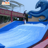Promotional Good Quality Mobile flowrider, Mobile Sufing flowrider, industrial inflatable large plastic water slide for sale