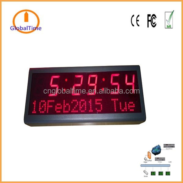 GlobalTime digital message network clock setting all international Time zone and automatic Daylight Saving Time