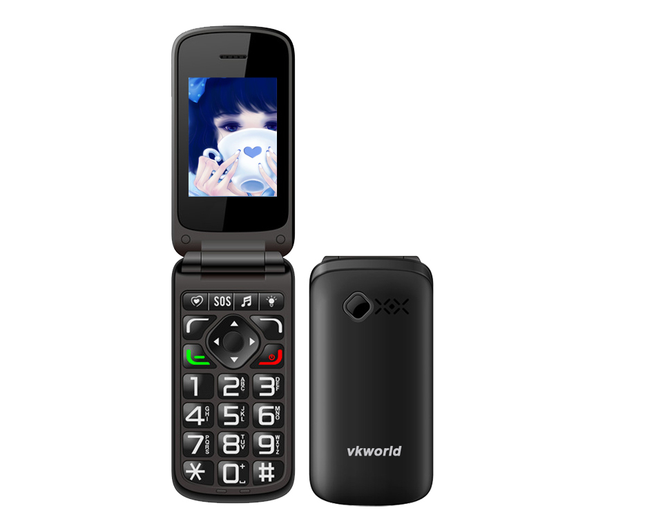 VKWORLD New Product Vkworld Z2 Camera Multi-Languages Low Cost Latest Flip Unlock 2*Sim 2.4 inch Mobile Phone Support FM