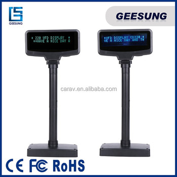 Pole Display For Retail Cashier System / 2 Lines Vfd Display Pole ...
