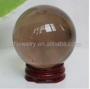 High quality Semi-precious natural smoky quartz crystal ball sphere for gift items
