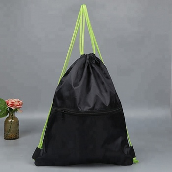 Custom 210d Simple Large Capacity Portable Polyester Drawstring Backpack Bag