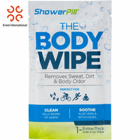 Private label single sachet body wipes removes sweat wipes kills 99.99% germs