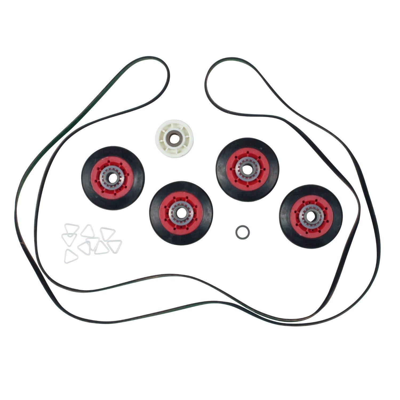 Compatible Belt & Rollers Repair Kit for WED9200SQ0, WED9500TW0, WED9200SQ1, Kenmore/Sears 11067072600 Dryer