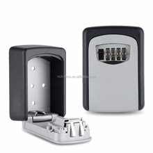 Safety Home Durable Storage Box Key Cash Hider 4 Digit Security Code Lock Wall Mounted Combination Password Keys box