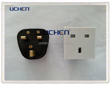 uk electrical socket/British 3 pin outlet/ british socket 250v 13a