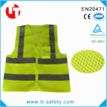7cd383569d2ce 100% 100グラムpolyestr高可視オレンジ反射メッシュベスト付きポケット用職場安全