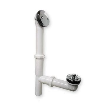 Plastic Bathtub Waste Kit Combined Pop Up Bathtub Overflow Drain