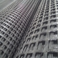 high tenacity polyester/ pes/pva geogrid coated with polymer for highway reinforcement