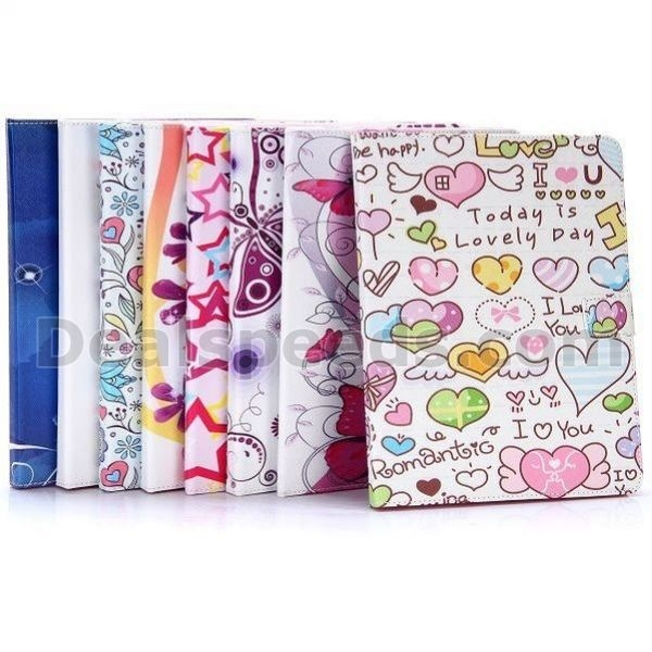 Colorized Flowers & Butterfly Cross Pattern Magnetic Flip Stand TPU+PU Leather Case for iPad 2/ The New iPad (iPad3)/ iPad 4