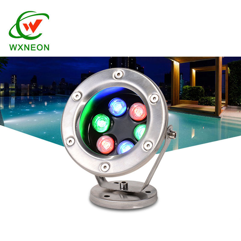 3W Led Pool Light Led Underwater Spot Light Stainless Steel And Tempered Glass Led Fountain Lamp