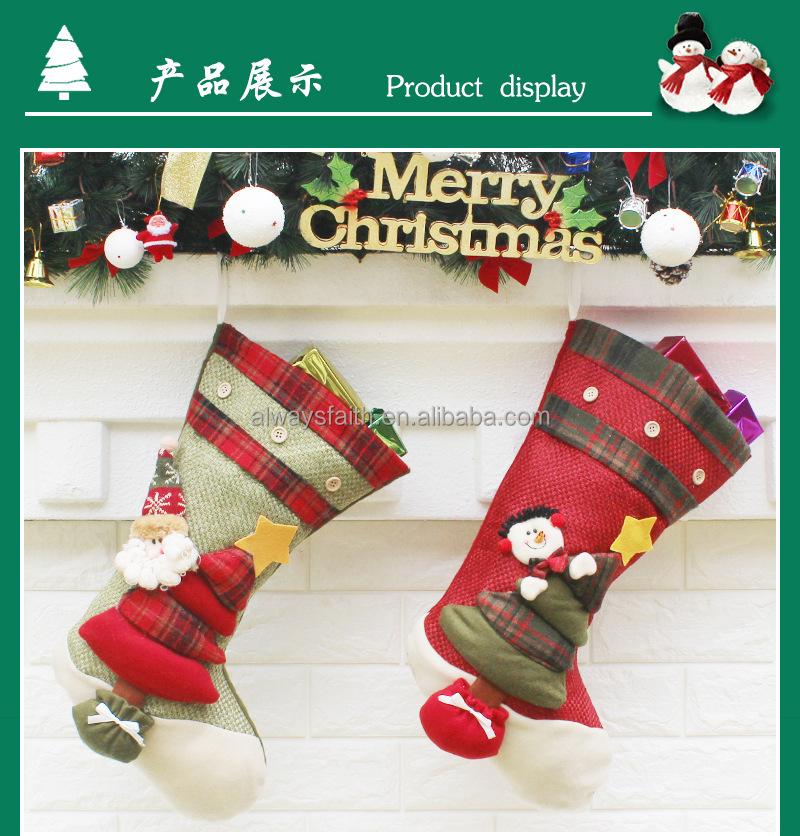 Weihnachtssocke für urlaub geschenk dekoration strumpf GFT-28 ...