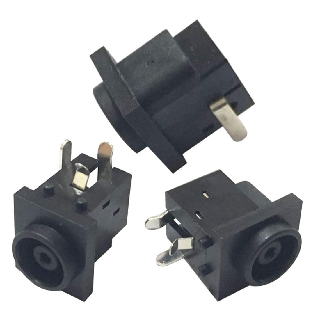 BeediY 10PCS DC-038 Black DC Power Jack Socket Connector 5.52.0mm Socket Round the needle DC Female