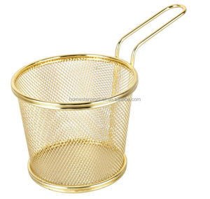 stainless steel wire mesh mini chip fry basket and potato chips storage mesh basket