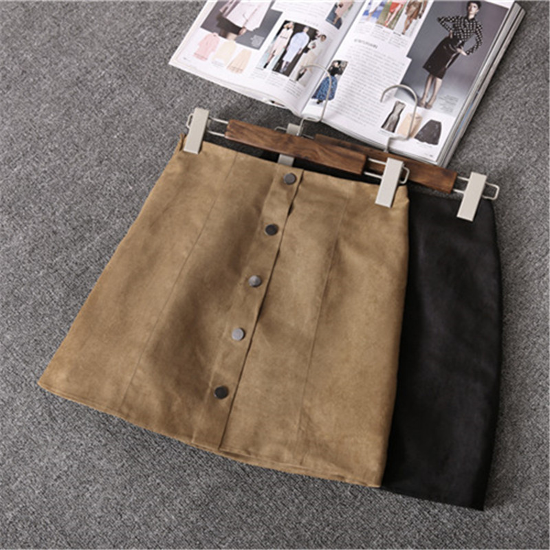 C67320A Korean style single-breasted skirt for ladies winter short skirt