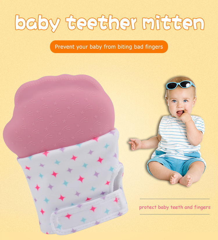 Silicone Baby Teether Glove Teething Mitten