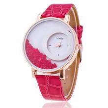 Luxusní dámské hodinky s pohyblivými kamínky uvnitř ciferníku z Aliexpress