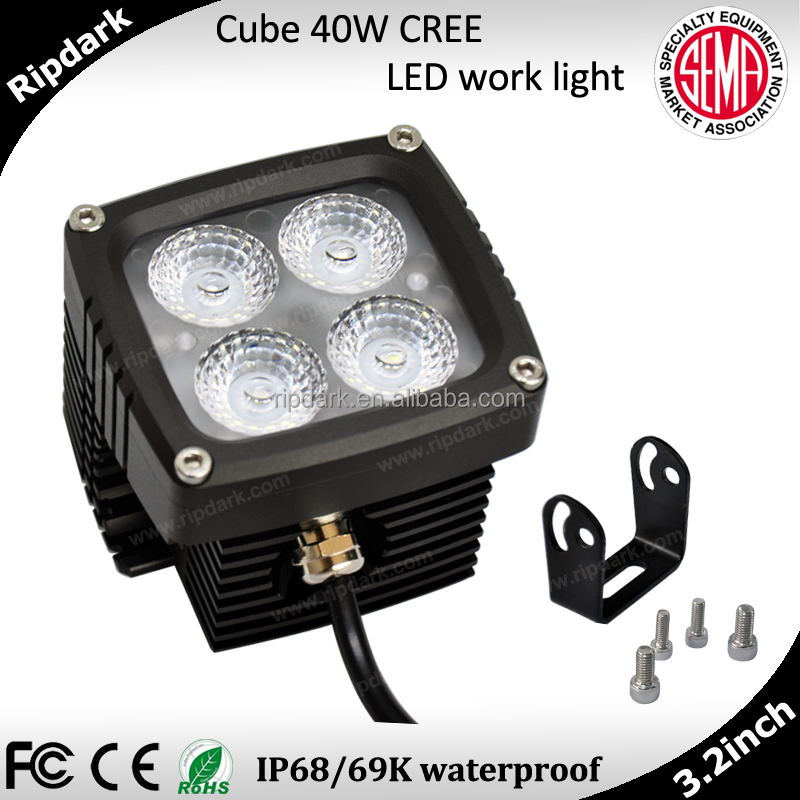 Hot!! car accessories 12V 24V led work lamp 48w led work light for jeep,auto parts,atvs led work light 40w