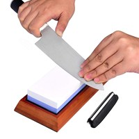 Hot promotion two-sided knife sharpening stone home using high quality diamond blade