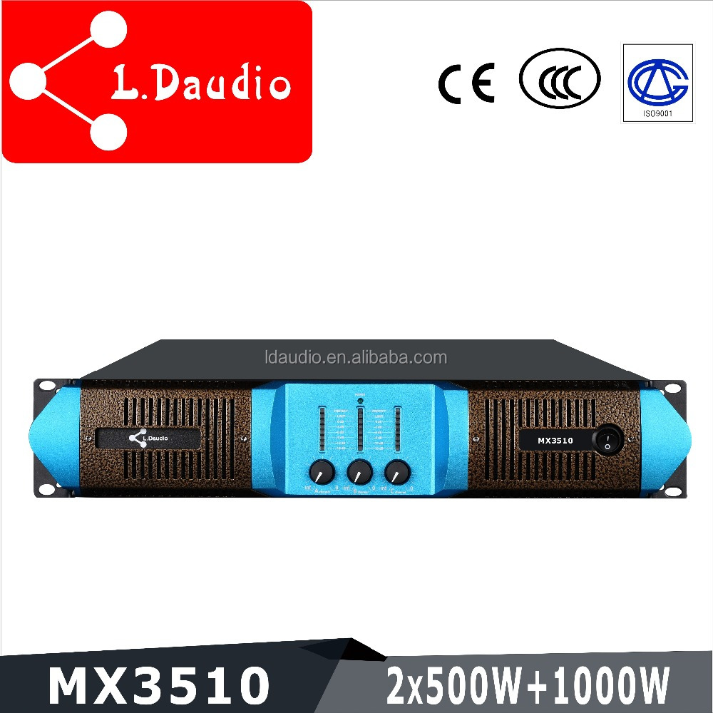 pa sound power mixer amplifier price for pa system 3 channel 500w