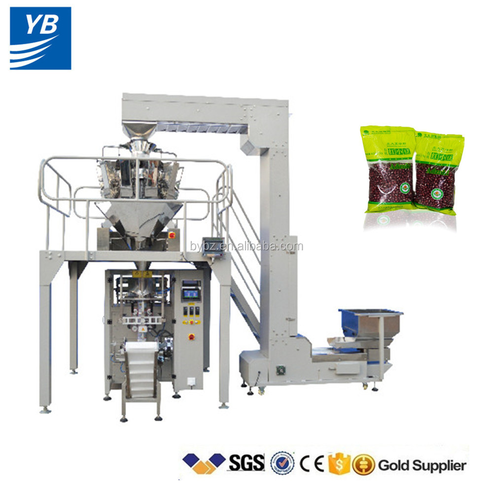YB-420Z Automatic Pulses Packing Machine with multi heads weigher system