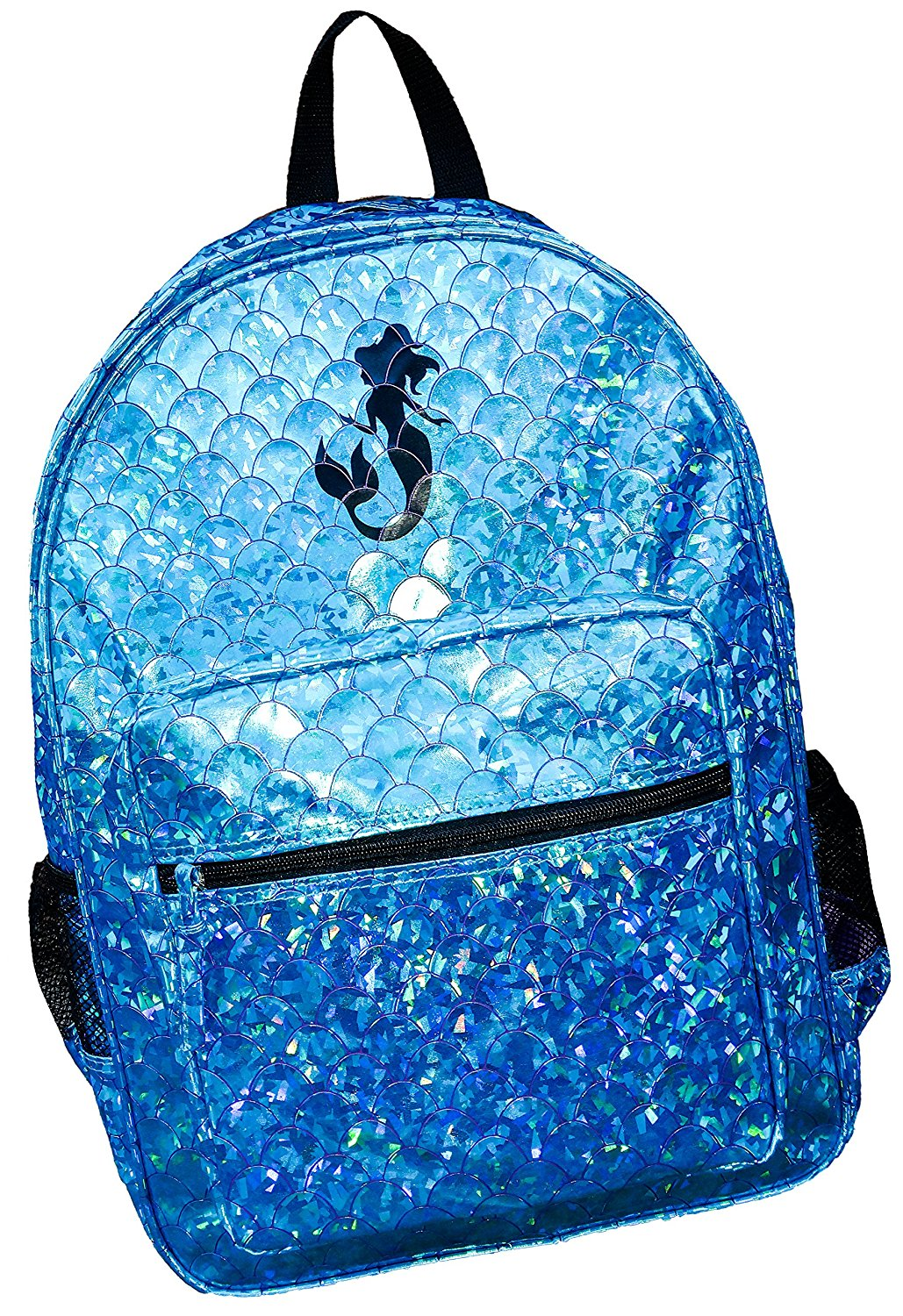 e8d576cb80d4 Get Quotations · Girls School Backpack Mermaid Scales Book Bag Trip  Turquoise Shiny Shimmer