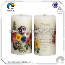 Water transfer printing candle decal paper
