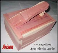 cedar wood shoe shine box