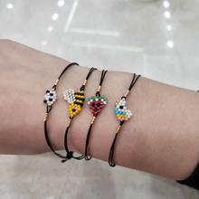 Милый браслет фэйрюу, очаровательные браслеты для детей с изображением животных, пчелы, Миюки, подвеска из бисера, аксессуары «Единорог», бр...(Китай)