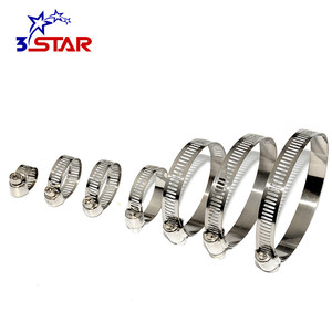 Extra large corrugated pipe hose clamp American hose clamps with low price