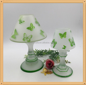 Factory wholesale cordless led glass table lamps with butterfly pattern,modern hotel lamp cheap lighting