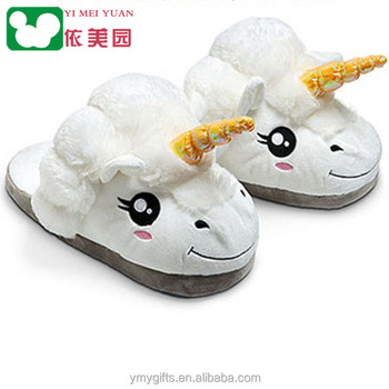 6813e81432ce Wholesale Soft White Fenty Winter Warm Home Indoor Kids Women Adults Plush  Unicorn Slippers