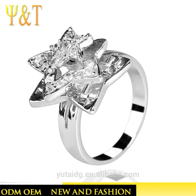 Jingli Jewelry Jewellery Shop Design Star Shaped Sterling Silver Ring