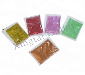 Bulk PET eco-friendly glitter powder wholesales for nail polish, wallpaper, Christmas decoration