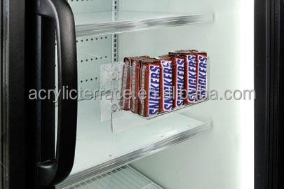 Refrigerator Candy Bar Holder Suction Cups Clear Cooler