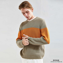 Long Sleeve Pullover Men's Shrug Sweater Color Combine Model Sweater For Men