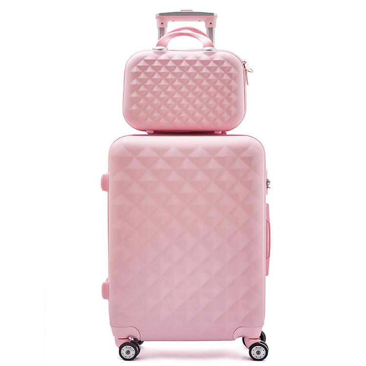 Ensemble de bagages Trolley ABS, valise avec roues rotatives et étui de beauté