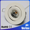 8W Classic LED recessed tiltable ceiling downlight COB