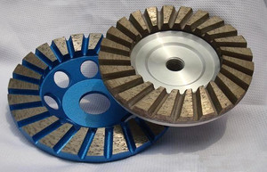 China Aluminium Base Cup Wheels Diamond abrasive aluminum cup grinding_wheel_for_concrete usesd for grinding