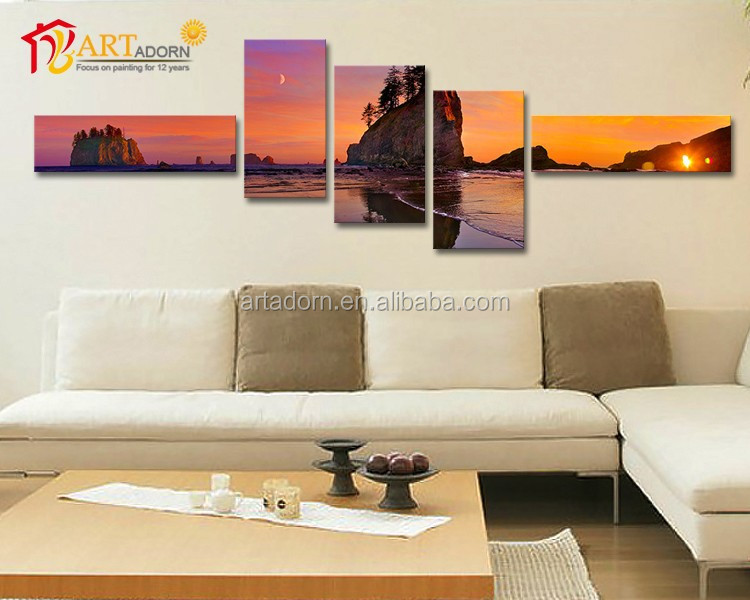 Print Photo Abstract 5 Panel Canvas Art