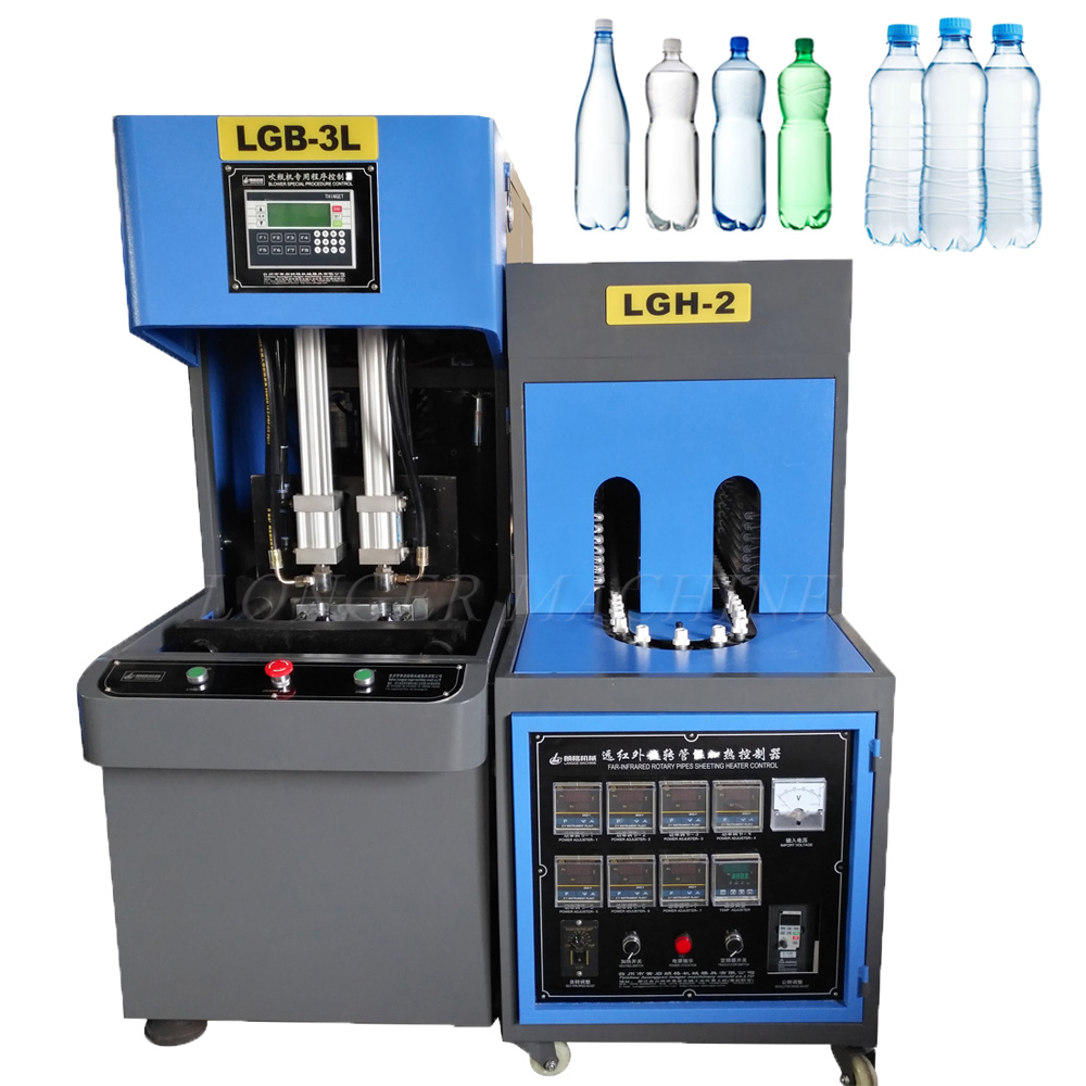Manual pet blowing machine including blower and oven.production of 500ML is 700-1000pcs/hr plastic bottle blower.