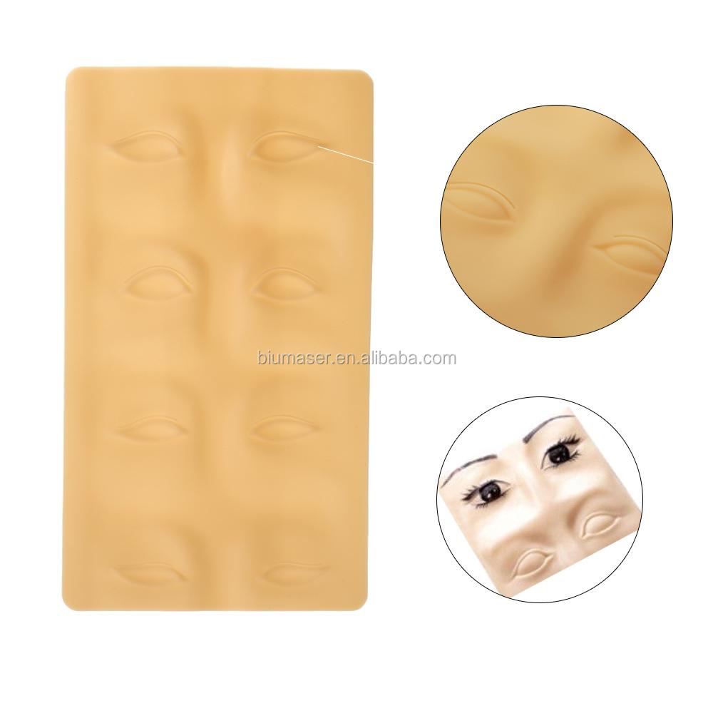 HEIßER Tintenlosen Microblading Permanent Make-Up Praxis Haut Latex Tattoo Praxis Haut