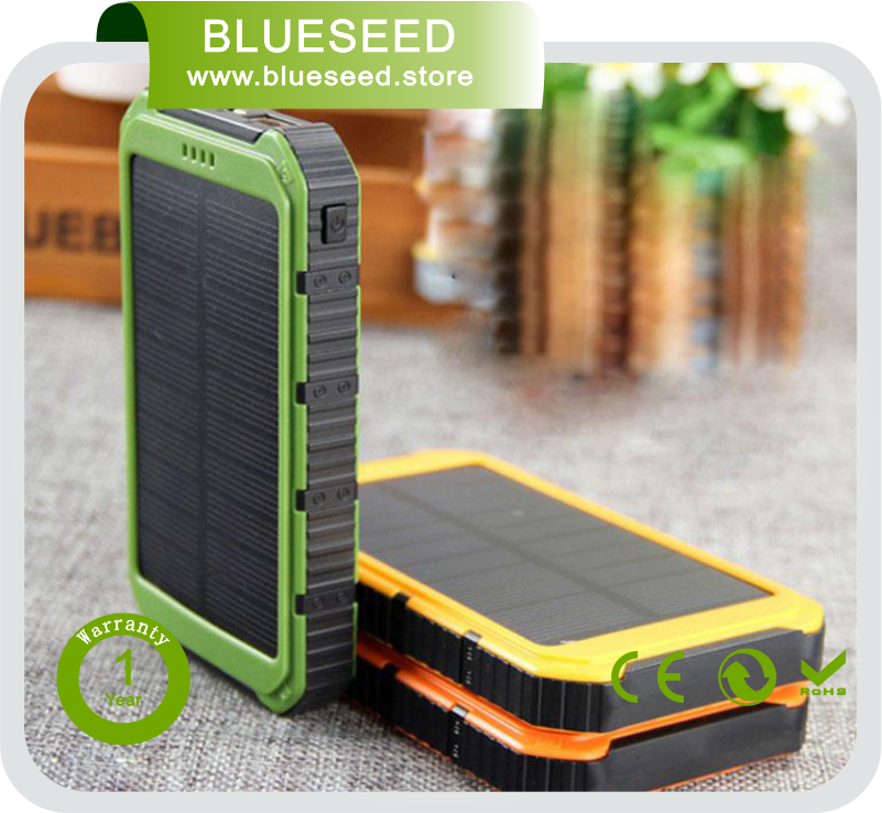 Li-Polymer battery 20000mah solar mobile power band portable cellphone charger for mobile