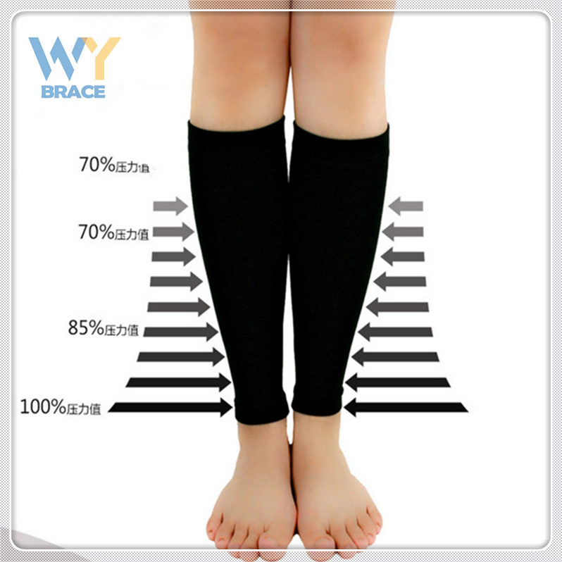 Factory Price Graduated Compression Sleeve Calf Support for Runners