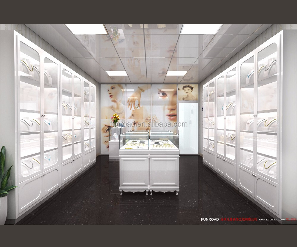 3d rendering jewellery shop interior design jewellery shop decoration idea