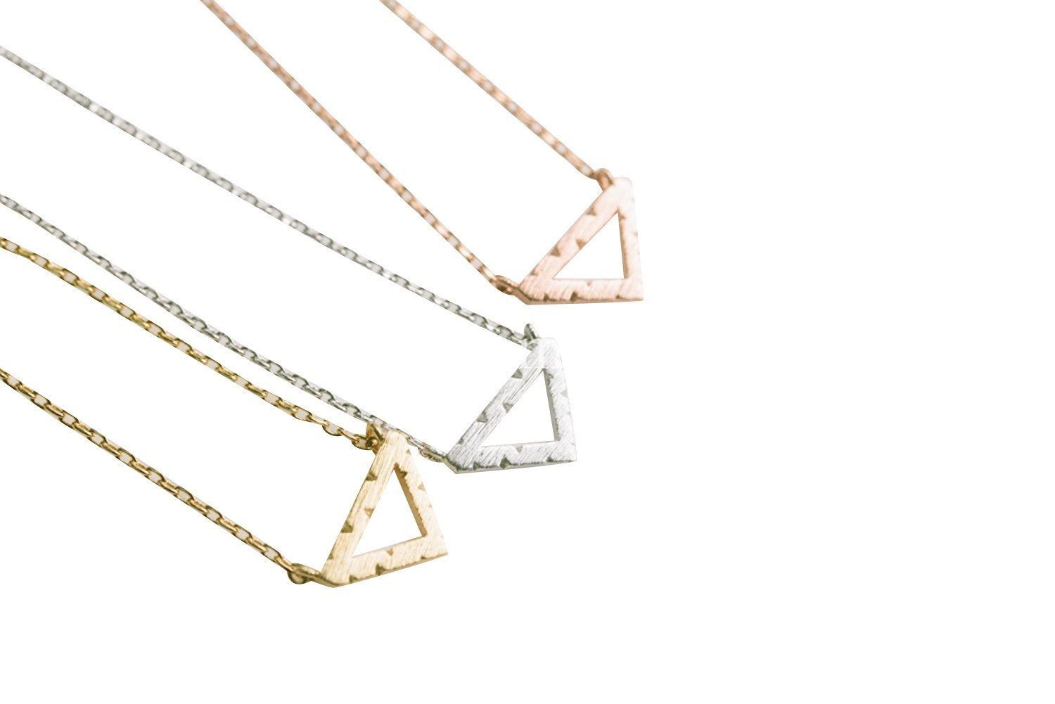 Upside Down Triangle Necklace-hw , triangle jewelry, triangle necklace, triangle shape jewelry, triangle shape necklace, triangle jewellry, geometric