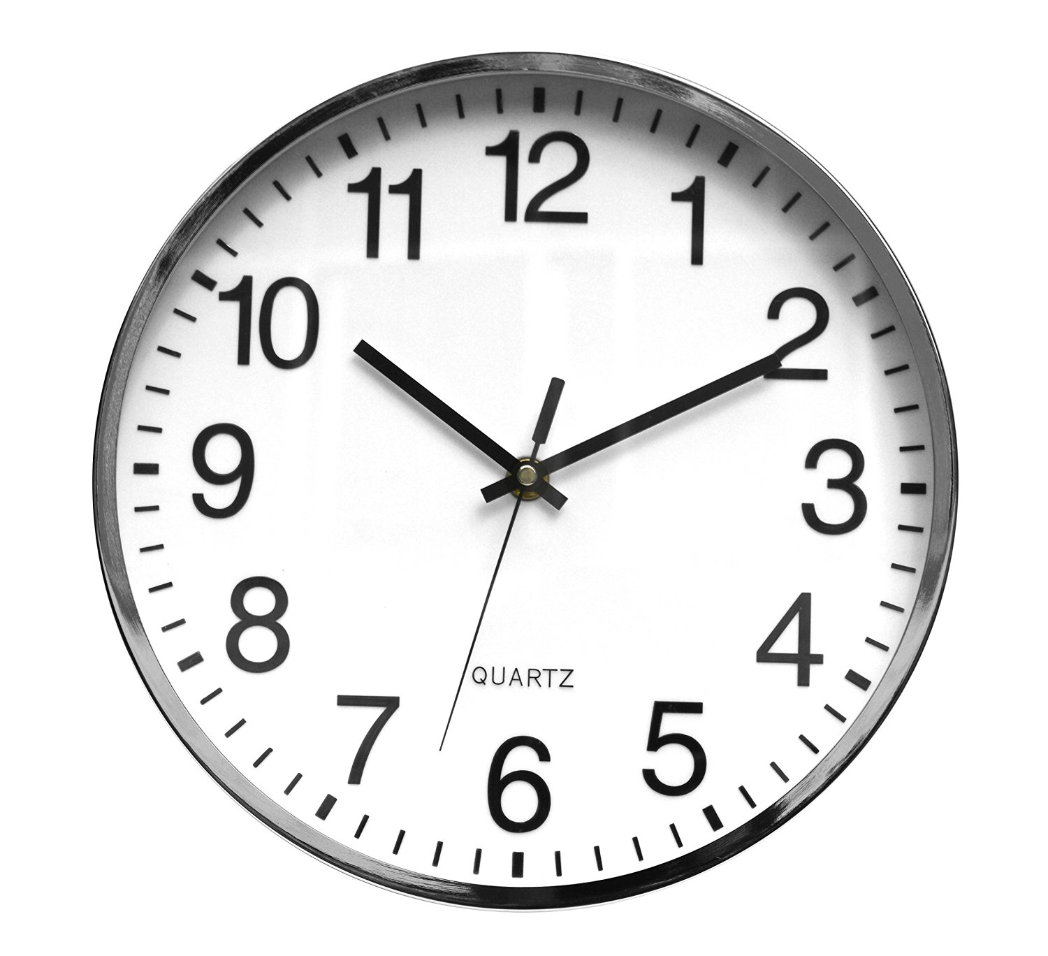 Buy Tempus Contemporary Metal Wall Clock With Embossed Numbers And
